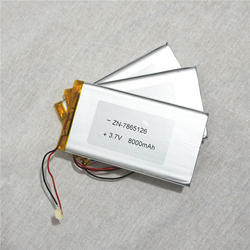 high capacity lithium polymer Li-Pol 3.7V 8000MAH Rechargeable Size:7865126 cells with Battery Protection Circuit Board