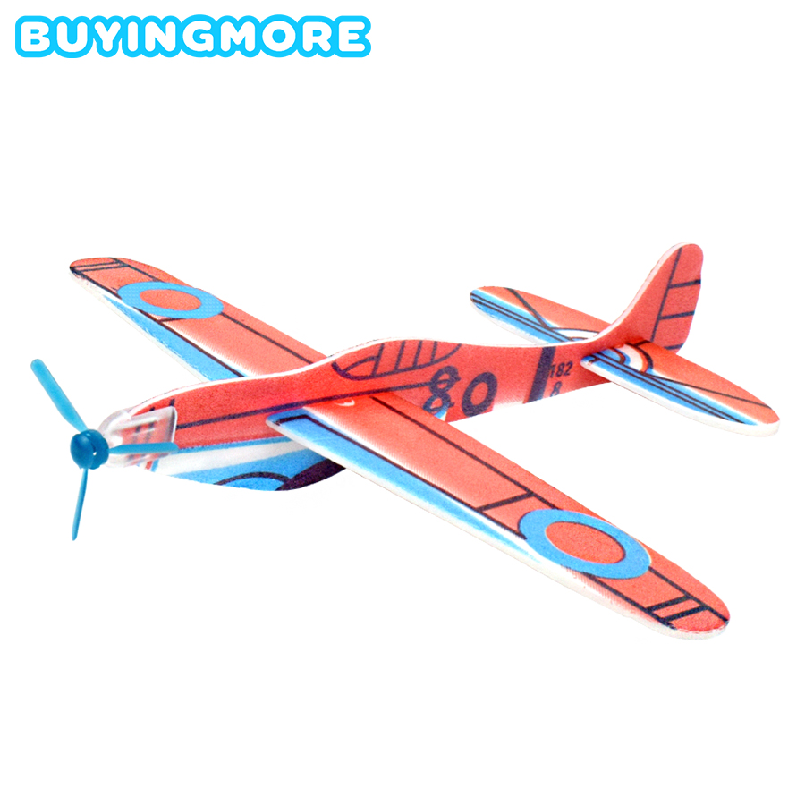 DIY Kids Toys Hand Throw Flying Glider Planes Foam Aeroplane Model Party Bag Fillers Flying Glider Plane Toys For Children Game