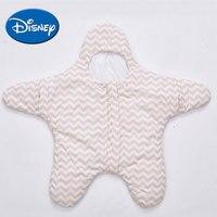 Disney Pure Cotton Baby Starfish Wavy Sleeping Bag Autumn Winter Thickening Sleeping Bag