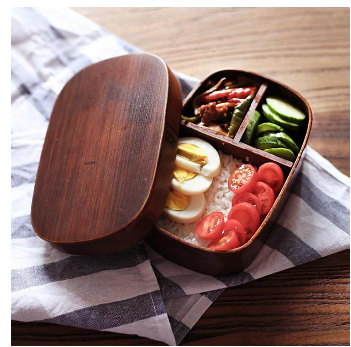 Japanese bento boxes wood lunch handmade natural wooden sushi box tableware bowl Food Container