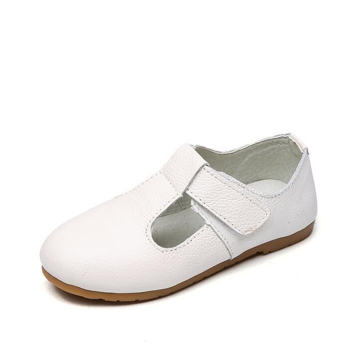 1 2 3 4 5 6 7 8 Year Kids Baby Girls Fashion Cattle Genuine Leather shoes 2018 New School Wedding White Party Princess Shoes 40
