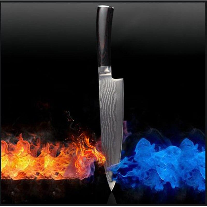 8 Inch Damascus font b knife b font chef font b knife b font VG 10