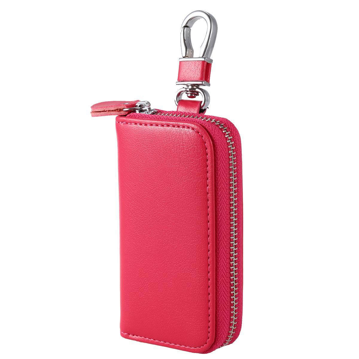 f3e22d51e9ee1 FGGS Men Leather Zip Around 6 Hook Key Case Car Key Holder Wallet-in ...
