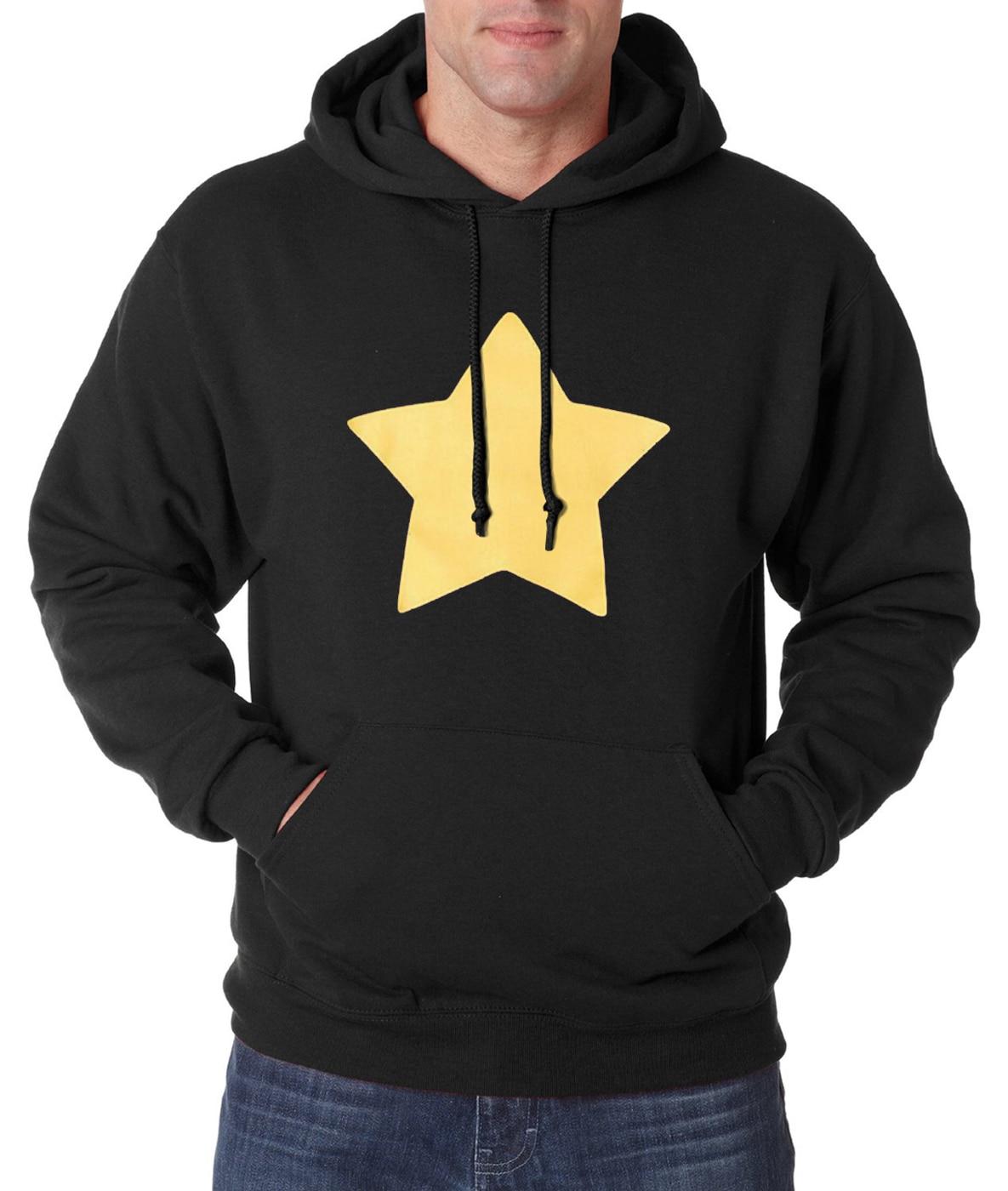New Arrival 2019 Autumn Winter Steven Universe Star Print Men Sweatshirts Casual Hoodie Men Warm Fleece Slim Fit S-2XL Available