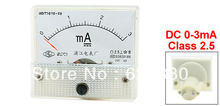 DC 0-3mA 1mA 5mA 10mA 20mA 30mA 50mA 100mA 200mA 300mA 500mA Analog Panel AMP Current Meter Ammeter Gauge 85C1(China)