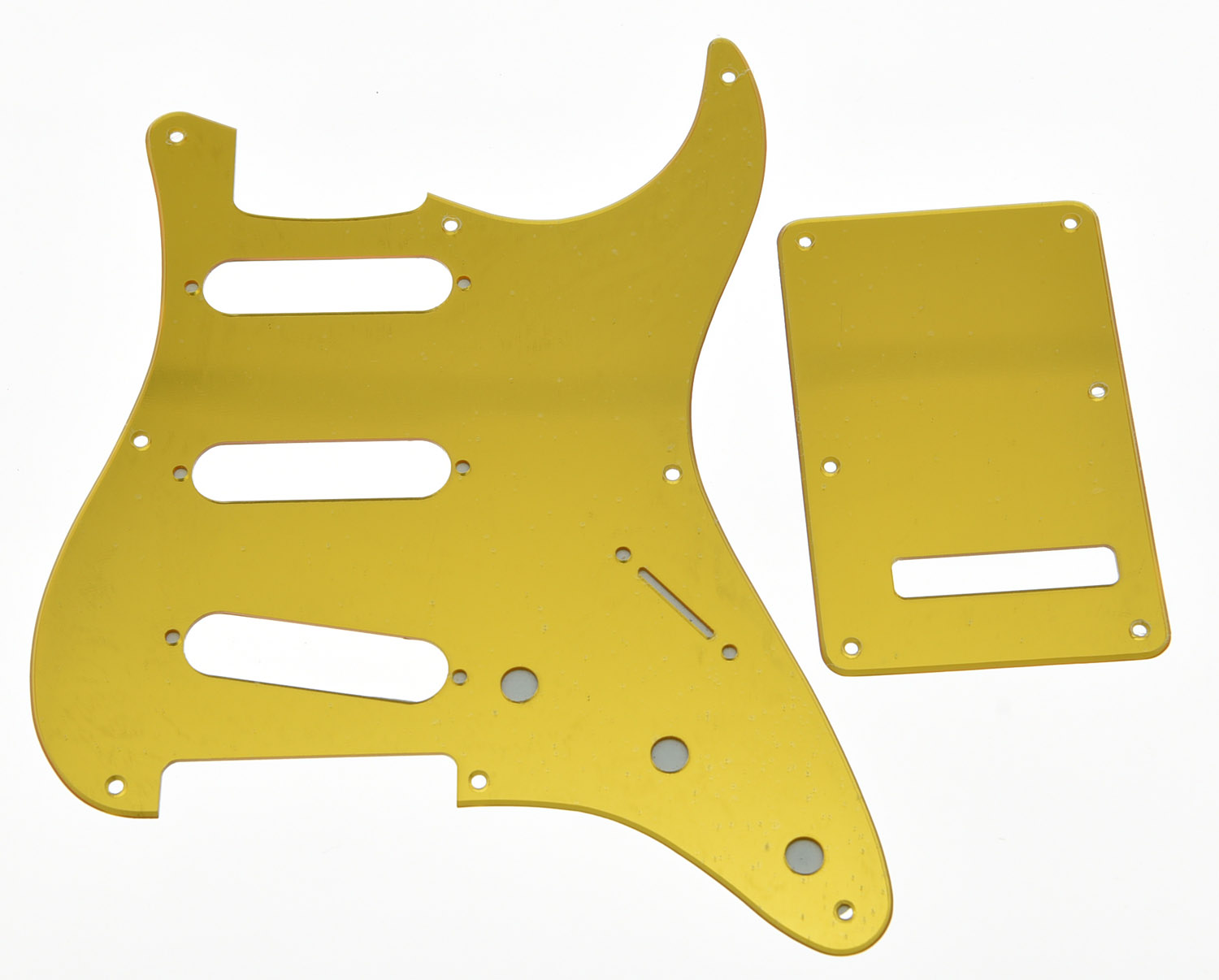 KAISH Gold Mirror Vintage 8 Hole Guitar Pickguard Trem Cover fits USA ST musiclily 3ply pvc outline pickguard for fenderstrat st guitar custom