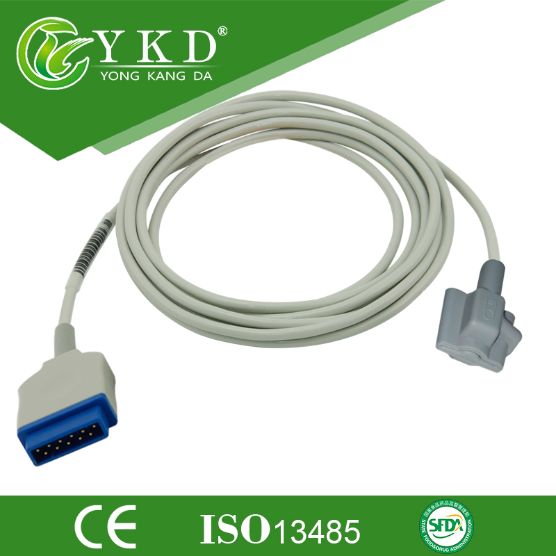 Compatilbe GE Pedaitric Soft Tip spo2 sensor for Carescape V100 patient monitor ohmeda module 11pins 3m