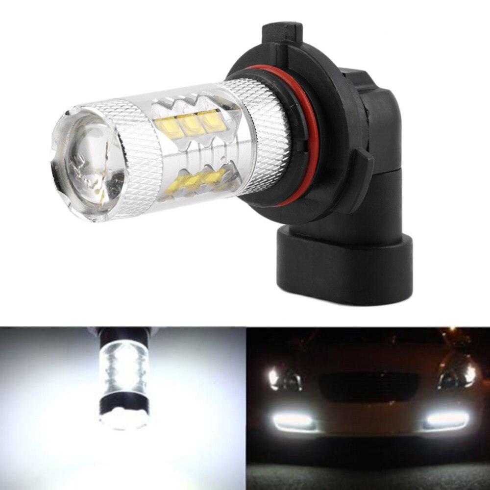 80W LED 12V Auto Car Lamp for 16 SMD LED HB4 9006 Pure White Running Lamp Headlight Fog Head Lights Bulb Car-styling DC12V