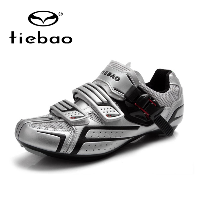 TIEBAO Professional Road Shoes With Fast Cycling Shoes Magic Tape Fastener Road Bike Shoes Mens Road Bike Shoes tiebao professional road shoes rotating screw steel wire with fast cycling shoes road bike shoes tb16 b1259
