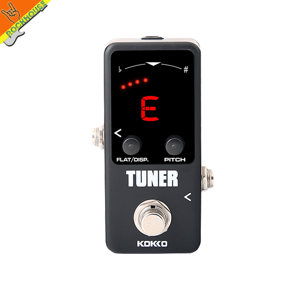 KOKKO Mini Tuner Pedal Tuner Guitar Bass Effects Pedal with Pitch Calibration and Flat Tuning Dual