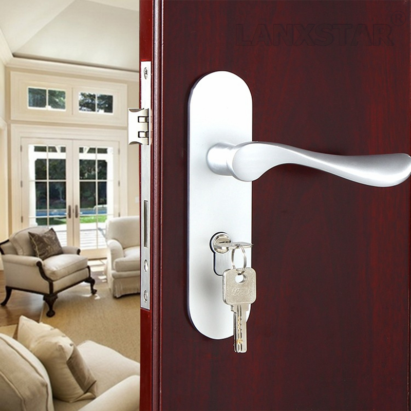 High Quality Handle Lock Indoor Strength Lockset Space Aluminum Bearing Mute Factory Direct Sales Room Door-locks
