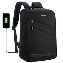 2019 Business Laptop Backpack 14 15.6 inch Fashion Men Travel Back Pack Multifunction Nylon School Black Bagpacks For Teenagers все цены