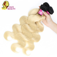 Facebeaut 1B 613 Peruvian Body Wave Human Hair Bundle 1/3/4 Pcs Lot Ombre Blonde Color Hair Weave Remy 8 28 Inch Free Shipping