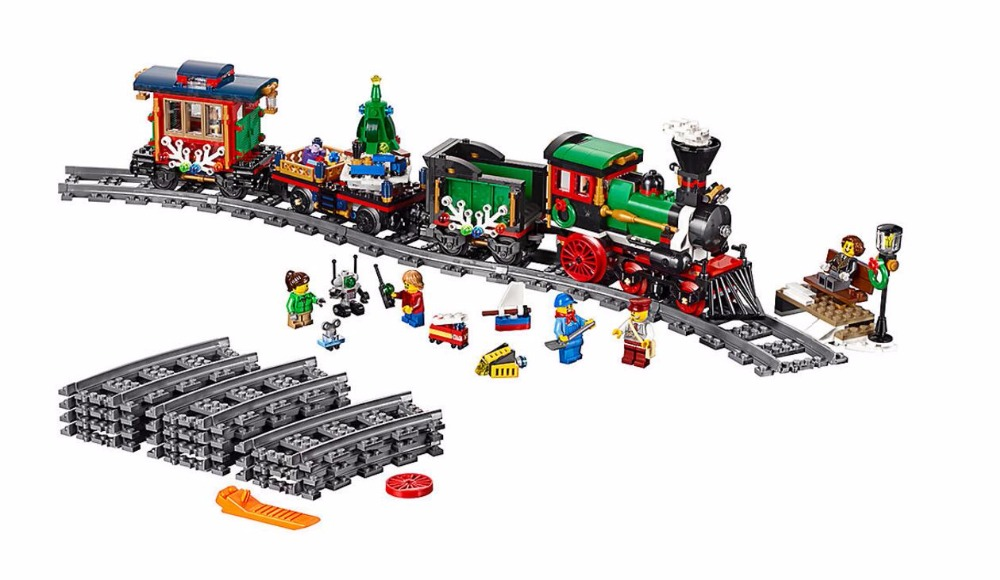 LEPIN 36001 Creator Series Winter Holiday Train 10254 Steam Train Farmer Building Blocks 770pcs Bricks Toys Gift For Children