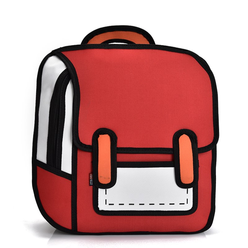45a4af7b057b New popular modern fashion university style cartoon pixel manufacture  peculiar 2D bag four color optional trend Backpack-in Backpacks from  Luggage   Bags on ...