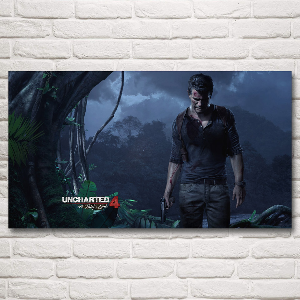 Uncharted 4 A Thiefs End Game Art Silk Fabric Poster Print