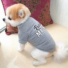 Летняя рубашка для питомцев, модная майка для маленьких собак и кошек, дышащая одежда для щенков с принтом, рубашка для ваших питомцев, подарок