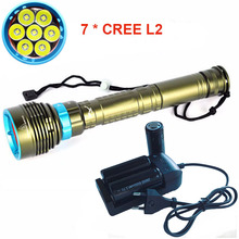 NEW Waterproof linterna LED Diving flashlight 7 x CREE XML L2 14000LM LED Flashlight 3mode Underwater 100M Waterproof