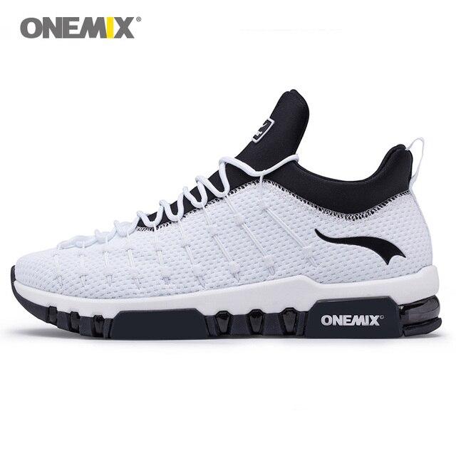 ONEMIX nuevos hombres zapatos para caminar mujeres diseñador Max  entrenadores atléticos tenis blanco botas de deporte 874c7786c1028