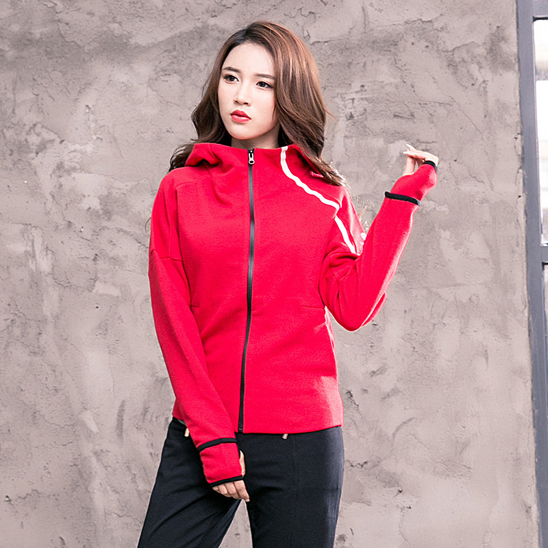 Running Jackets Fe542 Hoodie Running Jacket Women Yoga Workout Jacket Thumb Hole Zipper Jacket Fitness Clothing Sport Gym Sportswear Top Selling Well All Over The World