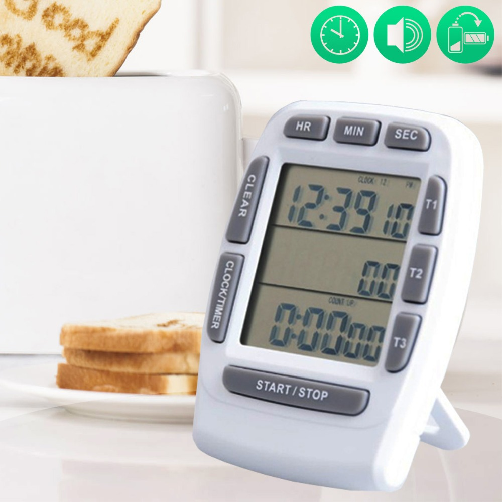 CHOICEIWN COOKING TIMER 3 channel countdown timer electronic timer kitchen timer mymei useful pocket credit card size timer kitchen cooking countdown study rest