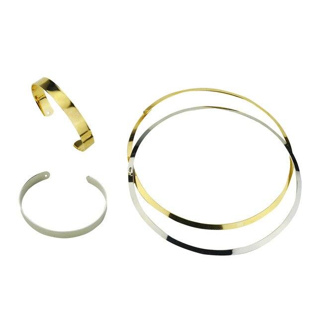 Nuovi monili di modo semplice coppie di metallo collare collana regalo per le donne ragazza N1799