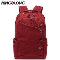 KONGSLONG Women Backpacks For Teenage Girls Youth Trend Schoolbag Boys Student Bag Linen Laptop Backpack Men