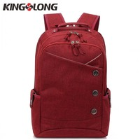KONGSLONG Women Backpacks For Teenage Girls Youth Trend Schoolbag Boys Student Bag Linen Laptop Backpack Men