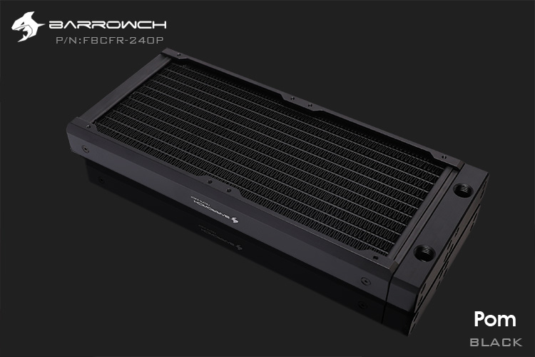 Barrowch FBCFR-240, хамелеон рыбы модульные 240 мм радиаторы, акрил/Пом съемные радиаторы, подходит для 120 мм вентиляторов - Цвет лезвия: POM-Black