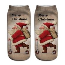 New Harajuku 3D Print Christmas Women Kawaii Ankle Socks