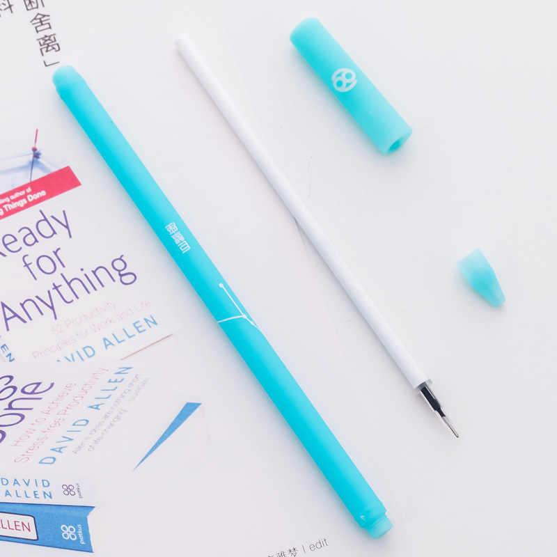 1 pièces créatif dessin animé gelée douze Constellation gel stylos école bureau papeterie Signature stylo coupe stylo 0.5mm noir recharge