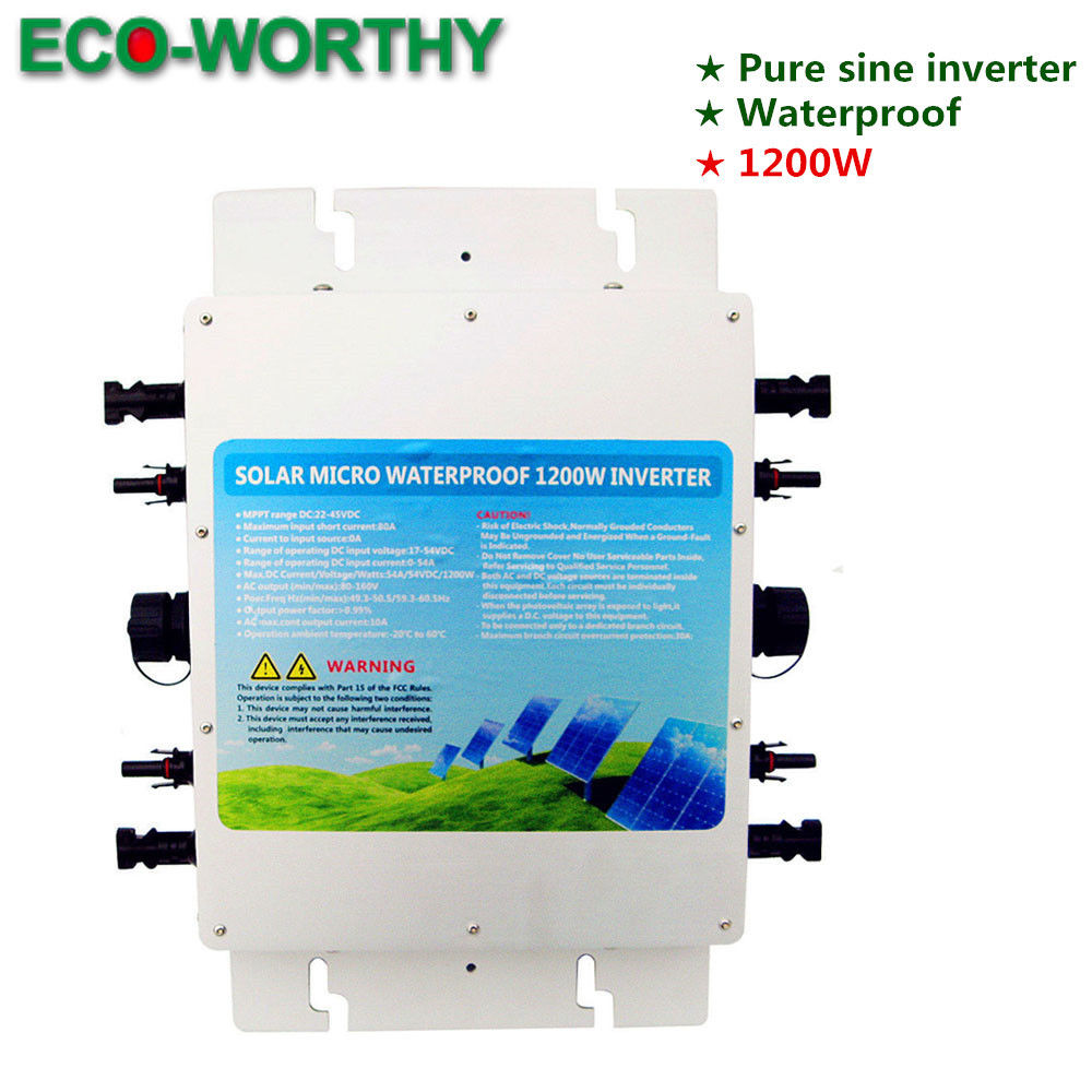 1.2KW 1200W Waterproof Grid Tie Inverter MPPT Function MC4 Quick Connector 230V1.2KW 1200W Waterproof Grid Tie Inverter MPPT Function MC4 Quick Connector 230V