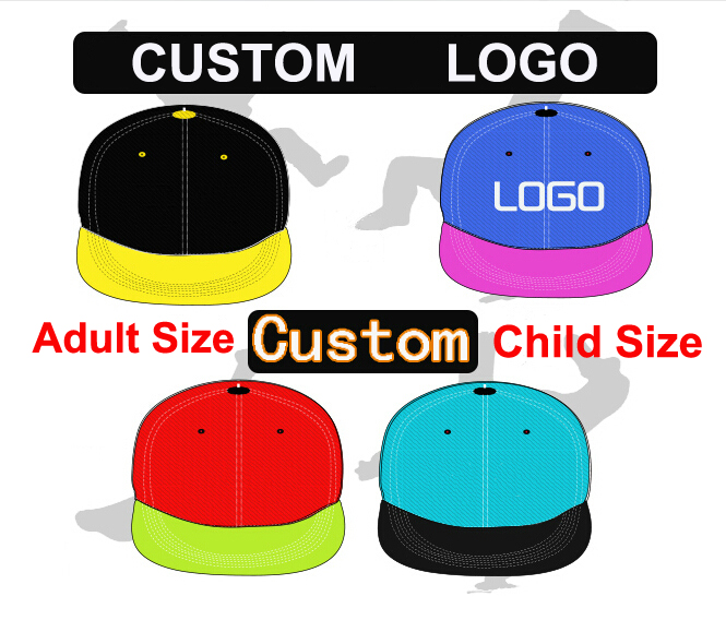 Custom Snapback Cap HipHop 3D Embroidery 6 Panels Snapback Adult Kids Size  Adjustable Snapback Personalized Gorras Free Shipping-in Baseball Caps from  ... 5f24be1de894