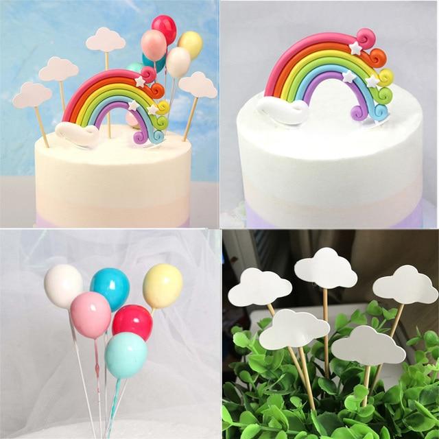 Unicorn Party Cake Topper Unicorn Birthday Party Decorations Kids Rainbow Unicornio Topper Wedding Decoration Baby Shower Decor 5