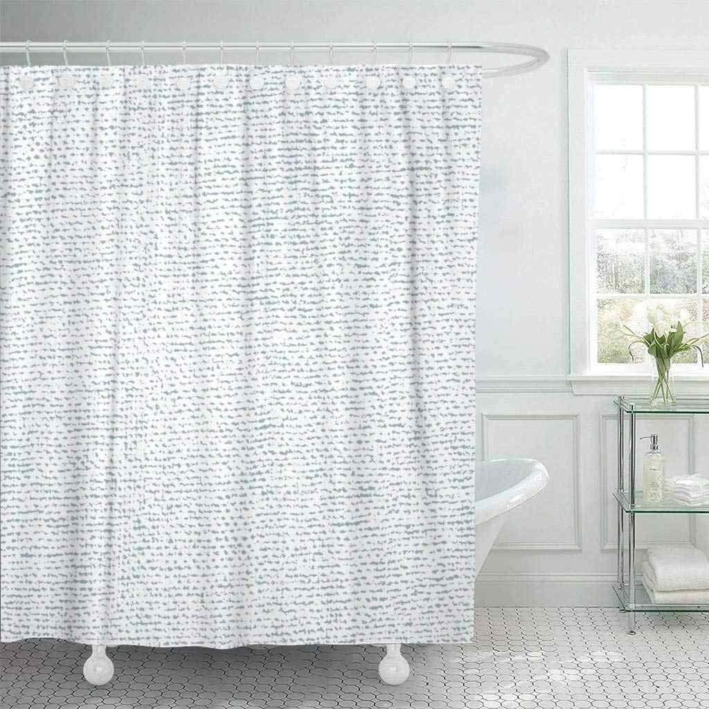 Fabric Shower Curtain With Hooks Abstract Burlap Aged Canvas