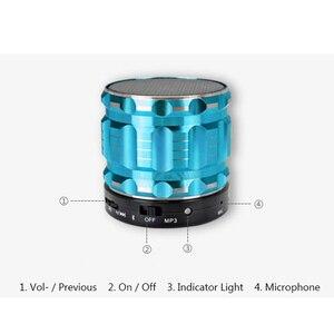 Image 3 - Aimitek S28 Portable Metal Mini Bluetooth Speaker Wireless Steel Outdoor Handsfree Stereo Subwoofer Support FM Radio TF Card AUX
