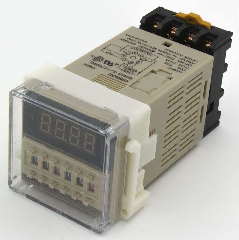 High quality DH48S-S repeat cycle time relay / timer with socket (AC 220V 110V 380V 36V DC/AC 24V 12V alternative) zys48 s dh48s s ac 220v repeat cycle dpdt time delay relay timer counter with socket base 220vac
