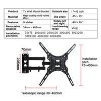 Adjustable Design Wall Mount Bracket Fits For 14 42 Inch Flat TVs Tilt Swivel Television Stand Single Arm TV Holder