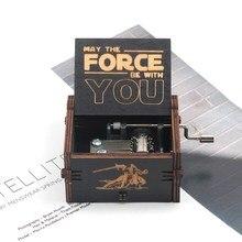 Caja de música pirata del Carib 2019 caja de música Juego de tronos Feliz cumpleaños caja de música de madera tallada envejecida caja de manivela de mano cajas de música