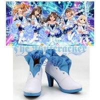 B3113 Halloween Cinderella Girls The Idolmaster Shibuya Rin Shimamura Uzuki Honda Mio Cosplay Shoes Custom Carnival Christmas