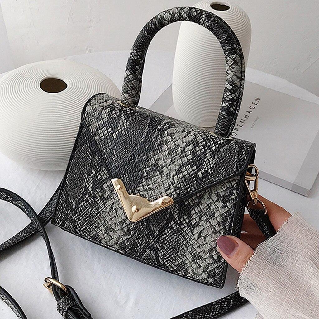 Luxury Handbag Designer Bags For Women 2019 Leather Flap Clutch Purse Chain Serpentine Ladies Shoulder Messenger Bags Sac A Main