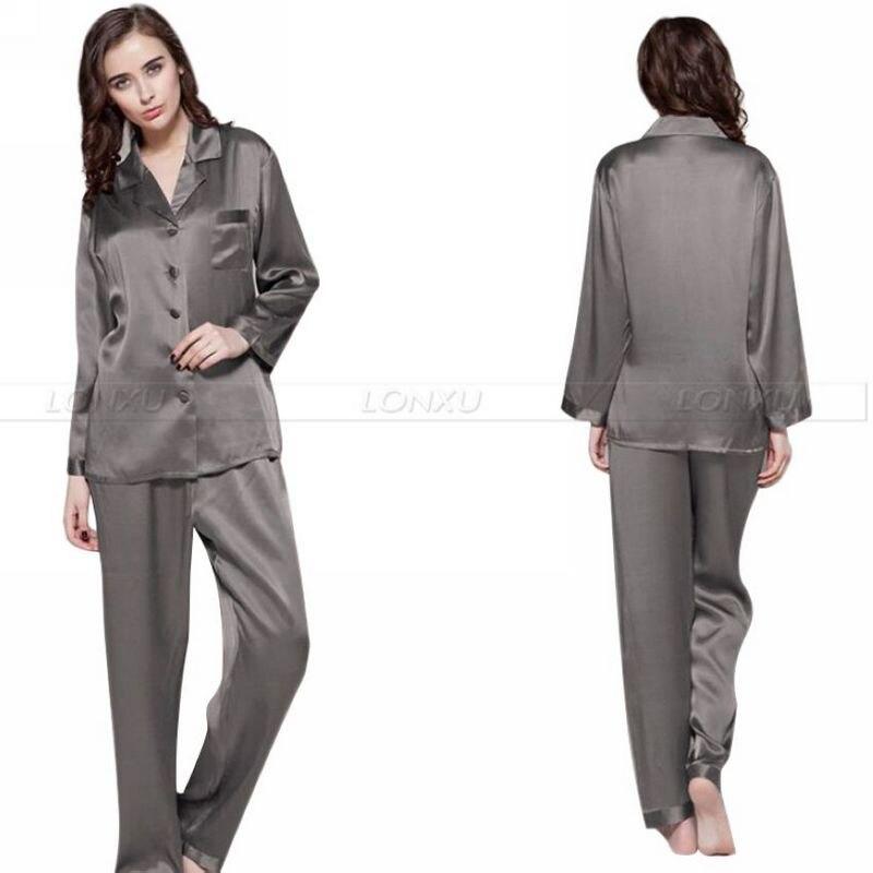 Popular Black Satin Pajamas for Women-Buy Cheap Black Satin ...
