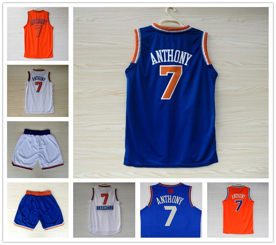 d0ad5dc2e New Men s Basketball Jerseys  7 Carmelo Anthony white
