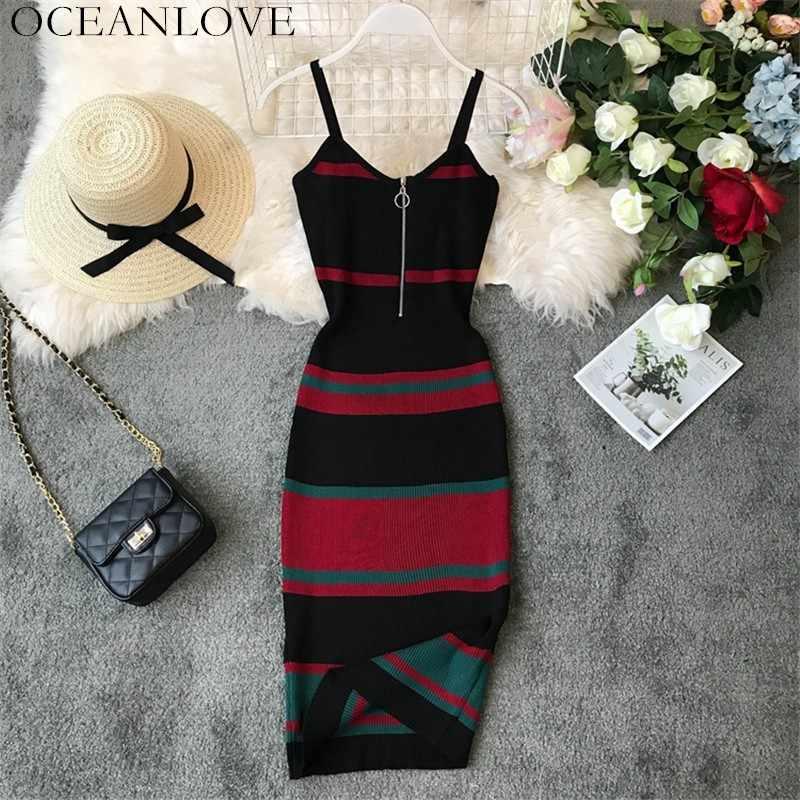 Сексуальное винтажное Полосатое платье с v-образным вырезом в Корейском стиле, обтягивающее платье миди, летнее женское платье 12132