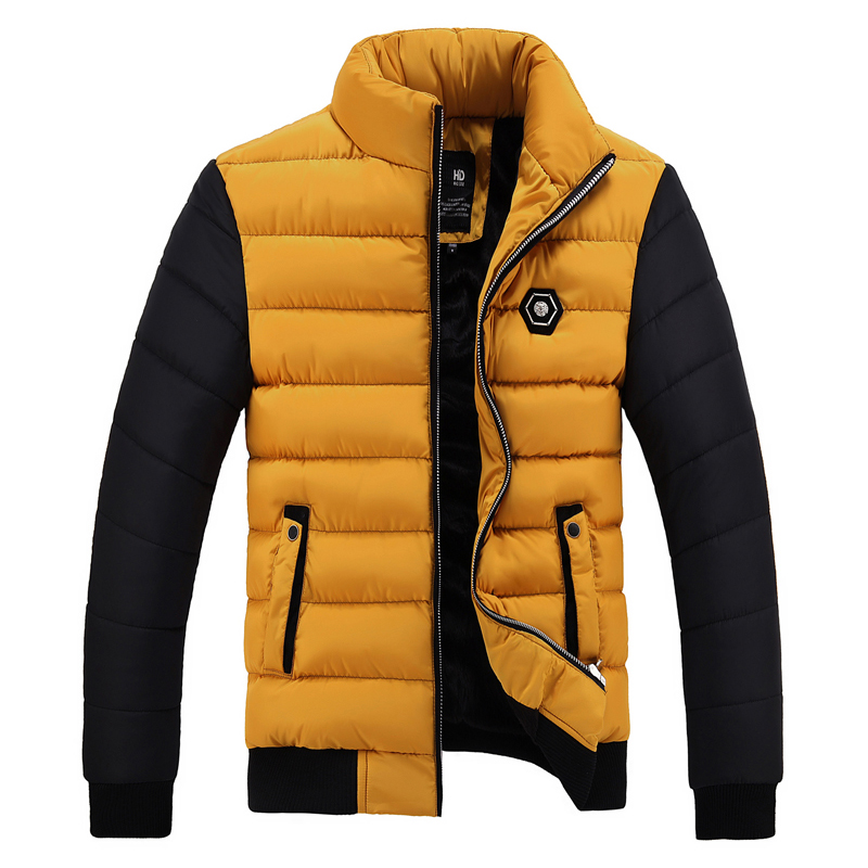 2018 New Snow Winter Coat Men Cotton Thickening Cold Stand Collar Fleece Warm   Parkas   Jacket Mens Casual Hot Overcoat Man WFY37