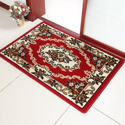 Tapis de Style européen pour entrer dans le Hall d'entrée tapis de sol chambre Table à thé anti-dérapant coussin Anti-poussière
