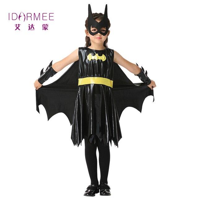 IDARMEE Child Cosplay Cute Bat Costume Kids Halloween Costumes For Girls Black Dress Connect Wings Batman  sc 1 st  AliExpress.com & IDARMEE Child Cosplay Cute Bat Costume Kids Halloween Costumes For ...