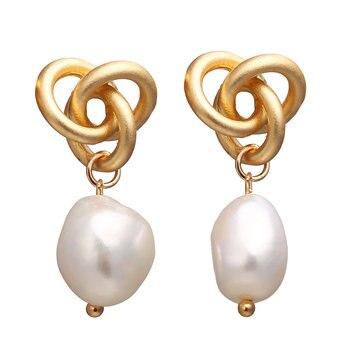 Geometric Shell Earrings For Women Earrings Jewelry Women Jewelry Metal Color: FCS1343