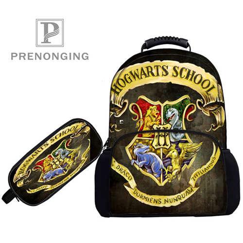 Custom 17inch Hogwarts_  Backpacks Pen Bags 3D Printing School Women Men Travel Bags Boys Girls Book Computers Bag#1031-01-24