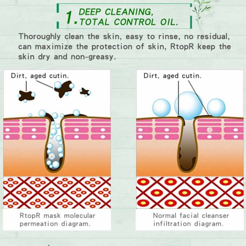 50g blackhead removal peel off mask deep cleansing for pimple blemishes  oil-control beauty face
